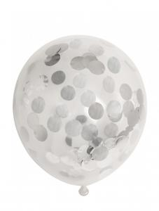 Latexballonger Konfetti Silver