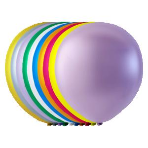 Latex ballonger Pärlemor osorterade färger