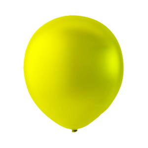 Latex ballonger Metallic gul