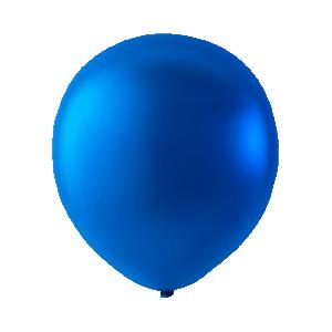 Latex ballonger Metallic blå