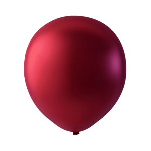 Latex ballonger Metallic röd