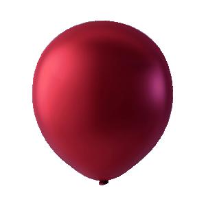 Latexballonger metallic Röd