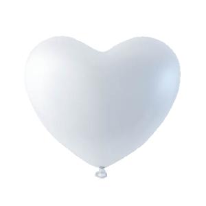 Latex ballonger vit hjärta