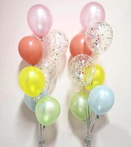 regnbågekonfetti 7st latexballonger
