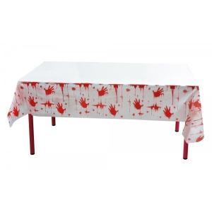 Blodig bordsduk
