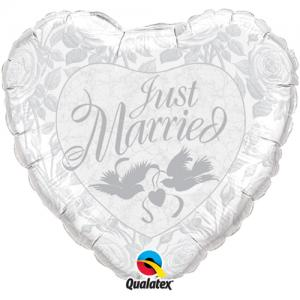 Just Married silver heliumballong