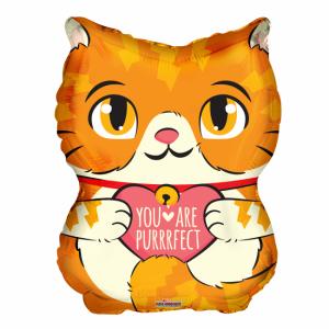 Purrfect katt heliumballong