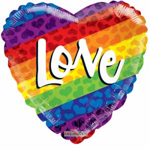 Folie ballong hjärta pride love