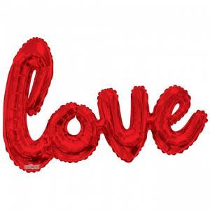 "Folieballong ""Love"" Röd 36"""