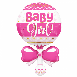 Folieballong welcome baby Rosa