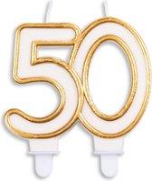 Ljus Vit/Guld 50år