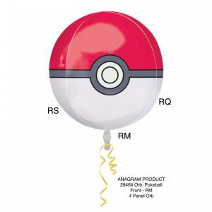 Orbz Pokeball heliumballong