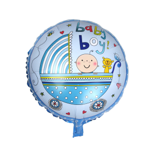 Baby boy vagn folieballong