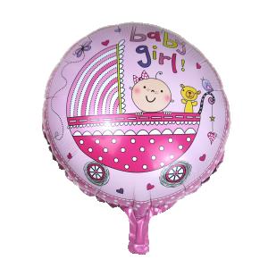 Baby girl vagn folieballong