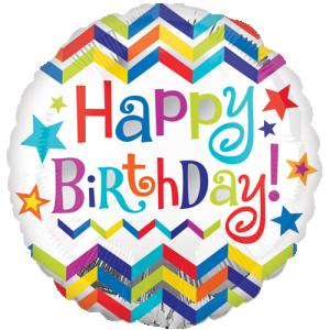 ballong födelsedag zigzag
