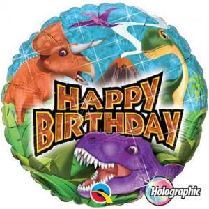 Happy birthday dinosaurie folieballong