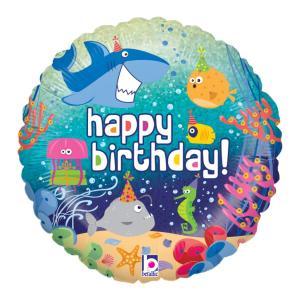 Happy birthday havets djur heliumballong
