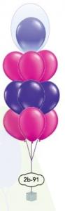 """9x12"""" dubbel ballongsbukett"""