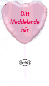 "Singel folie ballong med text 36"""