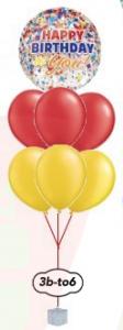 """6x12"""" Ballong bukett+med motiv Orbz/fyrkant/diamant"""