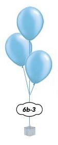 3 ballongsbukett
