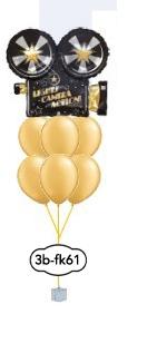 """6x12"""" + 24""""folie med motiv ballongsbukett"""