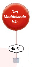 """Folieballong med text 18"""" 45cm"""
