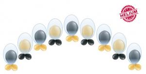 "Dubbelballong ballongbåge med krage 11"""