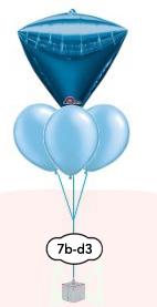 """Ballongsbukett 3x11"""" + Orbz,kub eller diamant"""