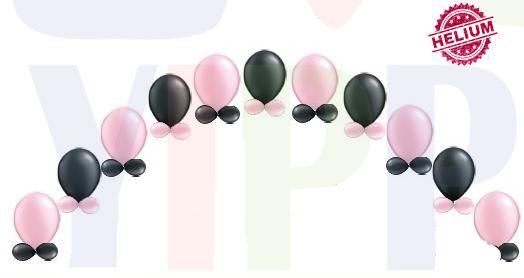"""Pärlhalsbands ballongbåge med krage 11"""""""