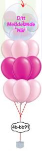 """9x12""""+ 1x24"""" Ballong i ballong bukett"""