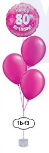 "3x12"" ballongsbukett + folieballong"