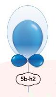 Singel dubbel ballong