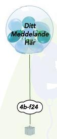 """Ballong i ballong med text 24"""" 61 cm"""