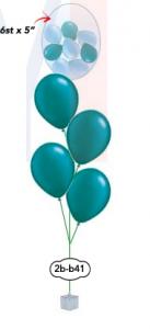 """4x12"""" Ballong i ballong bukett +16"""""""