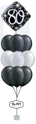 "9x12"" ballongsbukett + folieballong"