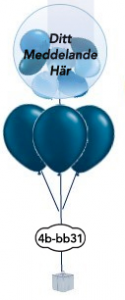 """3x12""""+ 1x24"""" Ballong i ballong bukett"""