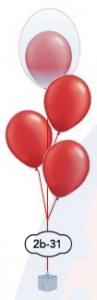 """3x12"""" dubbel ballongsbukett"""