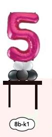 Bordskolumner 1 siffra/bokstavsballong