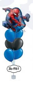"6x12"" + 24""folie med motiv superhjälte ballongsbukett"