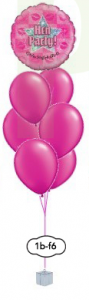 "6x12"" ballongsbukett + folieballong"
