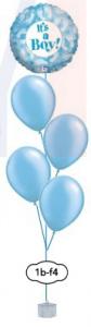 "4x12"" ballongsbukett + folieballong"