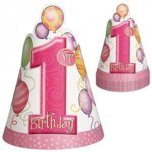 Ett års partyhattar rosa