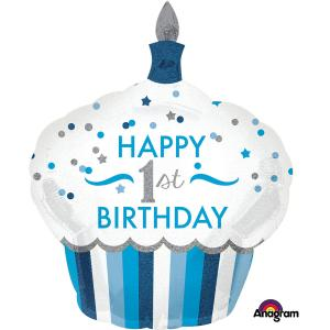 ballong födelsedag  1år cupcake