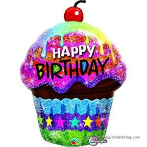Happy birthday muffin folieballong