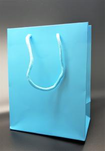 Presentpåse Lyx Ljusblå