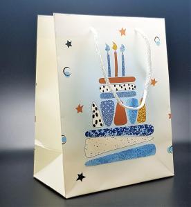Presentpåse Blå nyans tårta (medium size)