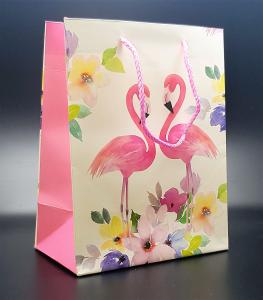 Presentpåse Flamingo love (medium size)