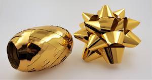 Rosett med presentband 6-pack Guld