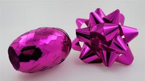 Rosett med presentband 6-pack Cerise rosa